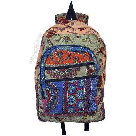 Vintage Embroidered Backpack on Sale for $44.95 at HippieShop.com ($45) ❤ liked on Polyvore featuring bags, backpacks, backpack, accessories, purses, vintage rucksack, day pack backpack, backpacks bags, vintage knapsack and vintage bag