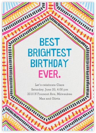 This is from Paperless Post - really cool invite for the non-girly girly girl.