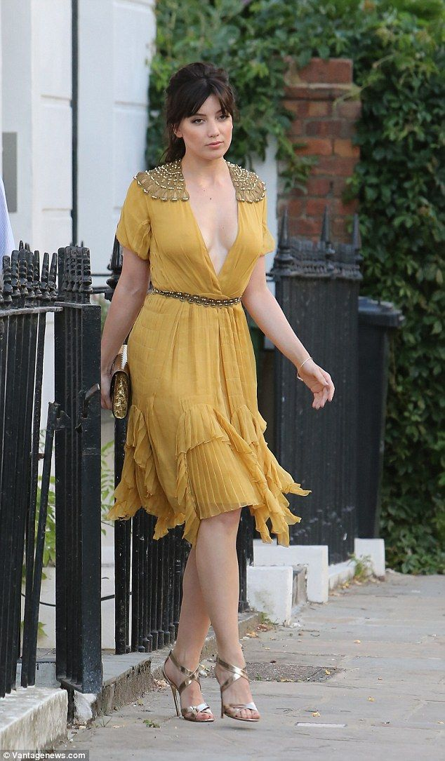 Yellow fever! Daisy Lowe made sure she was ready to steal the show as she stepped out in seriously seductive style in London on Wednesday