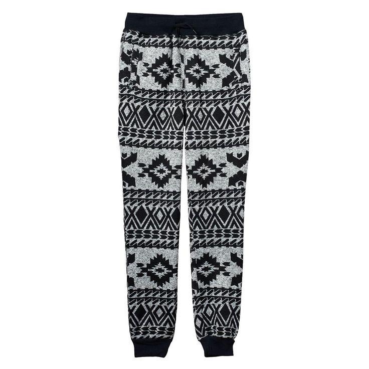 Boys 8-20 Hollywood Jeans Sweater-Print Fleece Jogger Pants, Size: Xl(18/20), Grey
