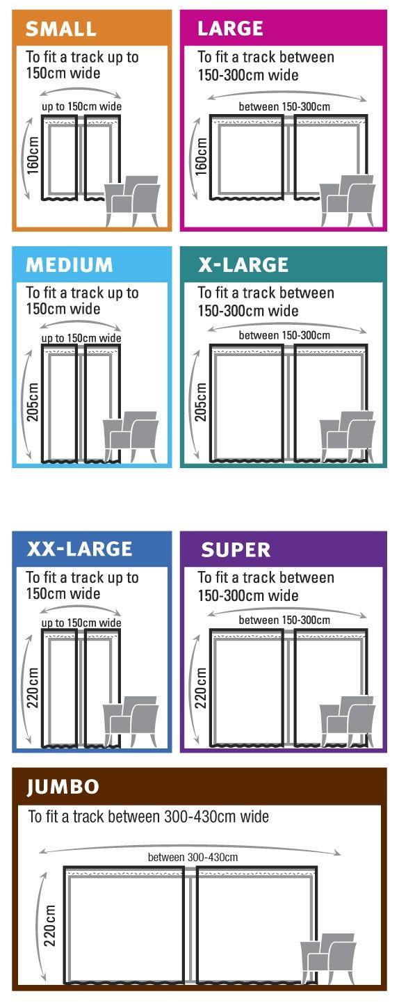 window curtain sizes chart standard