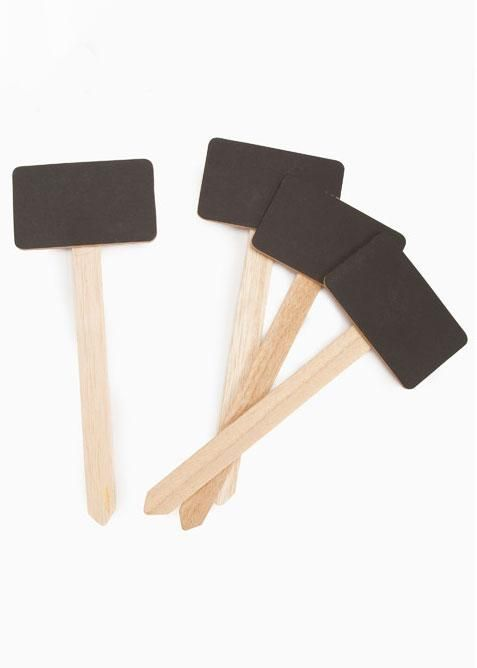 """Craftwood Small Chalkboard Stake Signs - 7.5"""" - 4 Signs per Set"""