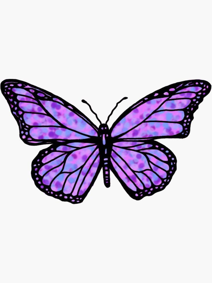 'simple purple butterfly' Sticker by andilynnf in 2020 ...