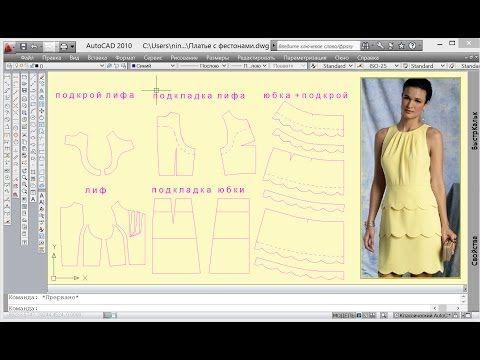Летнее платье с фестонами - YouTube