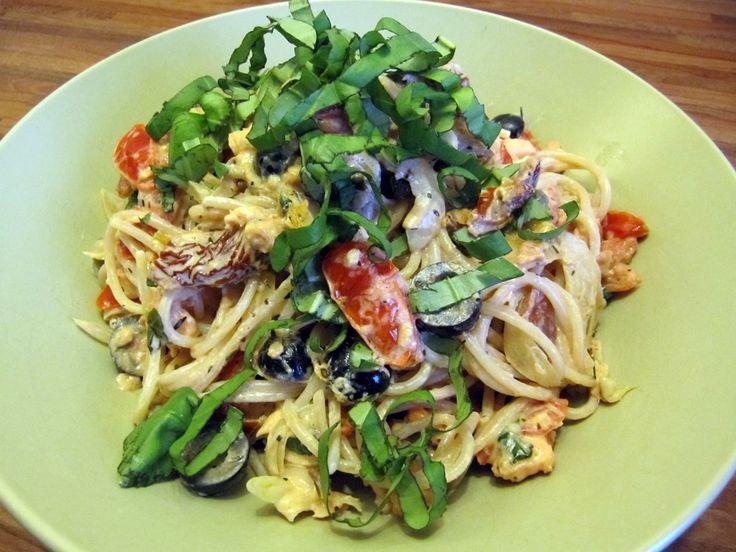 Ingezonden door Karin: spaghetti met zalm en basilicum - Lekker en Simpel