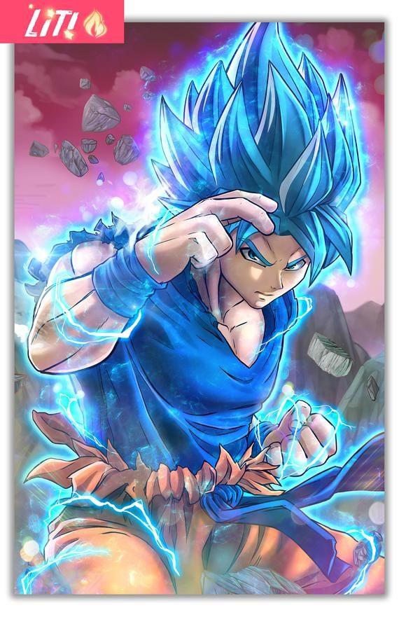 Amazing Fan Art Print Of Goku Super Saiyan Blue From Dragon Ball Super 11x 17 Poster Goku Super Saiyan Blue Anime Dragon Ball Super Dragon Ball Super Manga