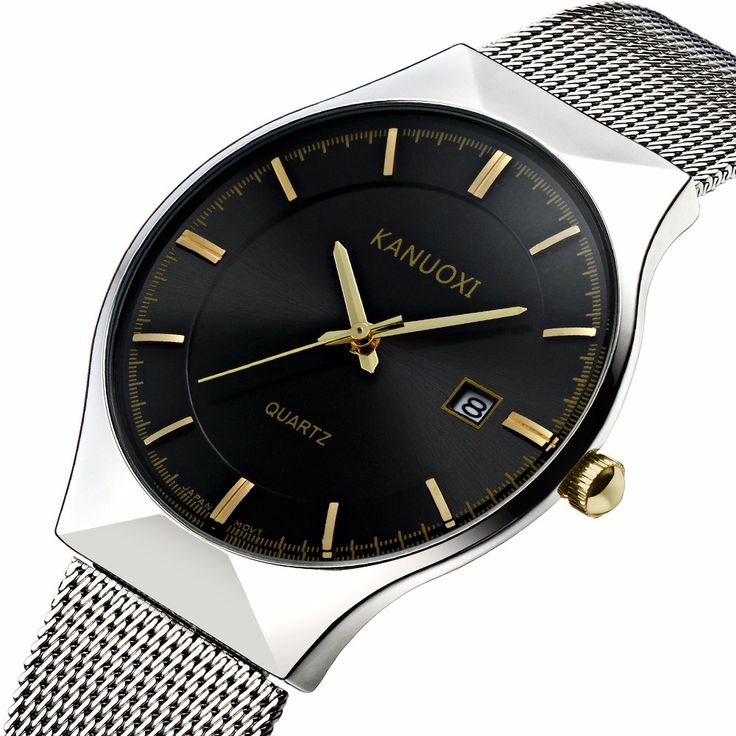 Cheap watch face, Buy Quality watch alarm directly from China watch pouch Suppliers: KANUOXI New Top Luxury Watch Men Brand Men's Watches Ultra Thin Stainless Steel Mesh Band Quartz Wristwatch Fashion casual watch