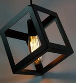 Buy The Black Steel Cube Black 60W Ceiling Lamp  Online: Shop from wide range of Filament Collection Online in India at best prices. ✔Free Shipping✔Easy EMI✔Easy Returns