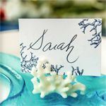 coral place card holders 8 pcs