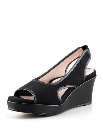 Women's Sabriel Stretch Fabric Wedge, Black - Taryn Rose from Neiman Marcus  on Catalog Spree