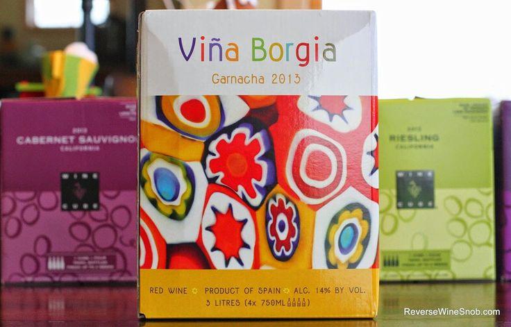 2013 Vina Borgia Garnacha - good boxed wine. Must try to determine if it's too good to be true!