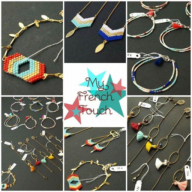 La créatrice @my_french_touch est exposée au Comptoir à perles et elle fait des merveilles avec des perles Miyuki et des petits pompons! ♡ à découvrir vite, ça part comme des petits pains!  #lecomptoiraperles #créatrice #bijouxdecréateurs #faitmain #handmade #handmadejewelry #perles #perlesaddict #Miyuki #miyukiaddict tissage #loom #création #creation #pompons #bracelet #sautoir #bijoux #couleurs #colors #nofilter