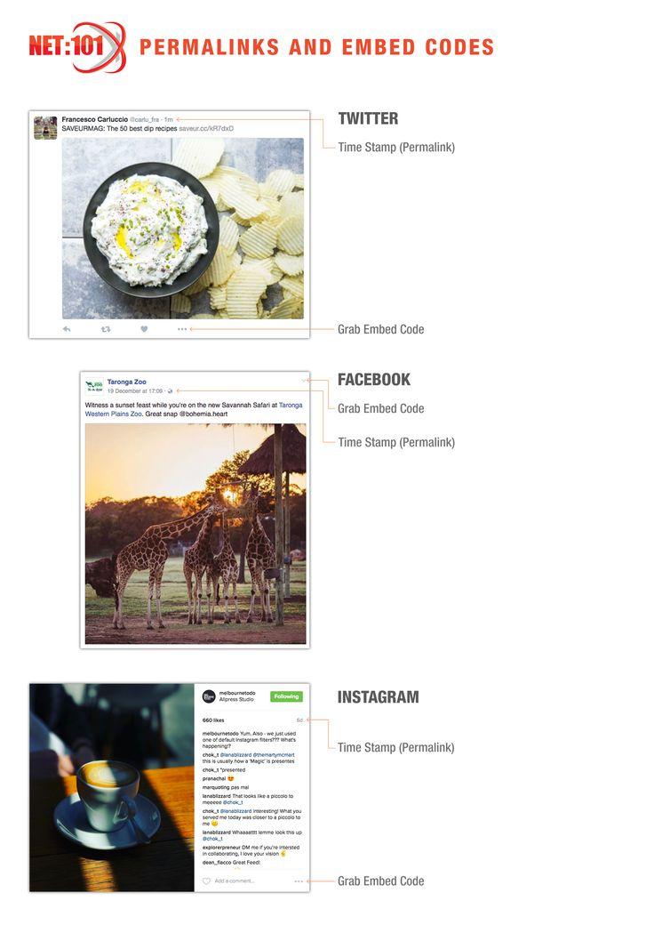 Finding Social Media Permalinks & Embed Codes. #net101 #socialmedia