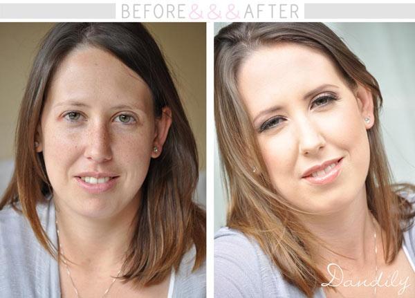 Dandily Makeup Before&&  www.makeup.dandily.co.za