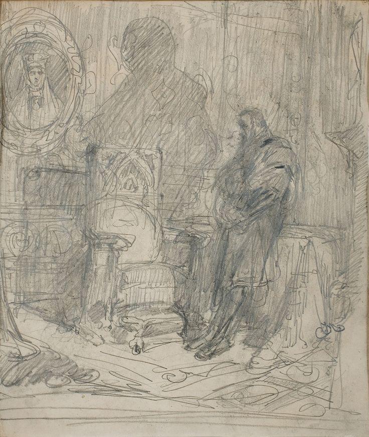 Matejko Jan ZYGMUNT AUGUST PRZED PORTRETEM RADZIWIŁŁÓWNY - obiekt z bazy Agra-Art