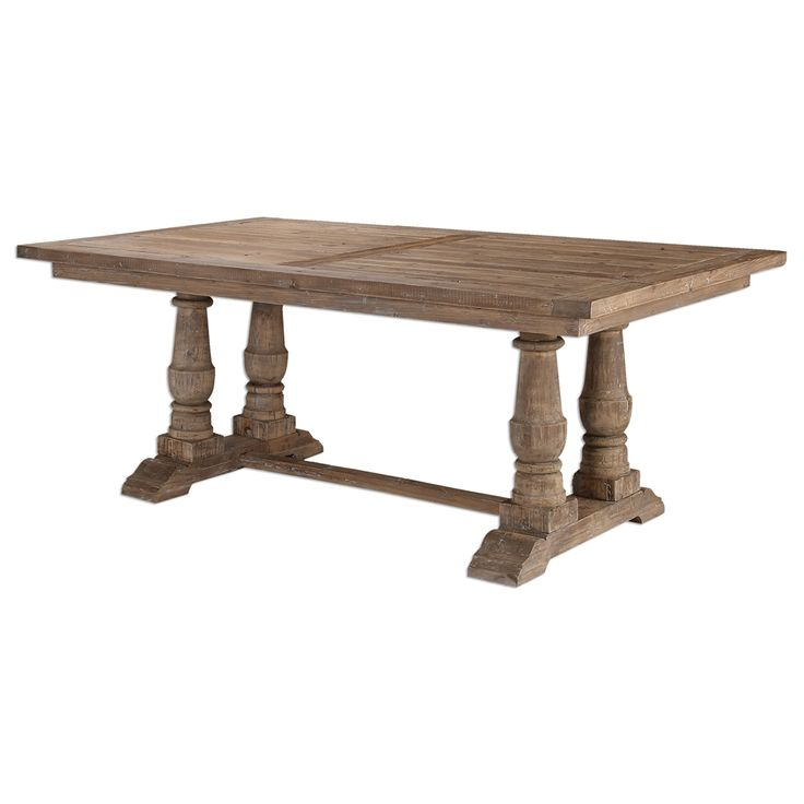 trestle table kitchen island rustic reclaimed wood dining tables