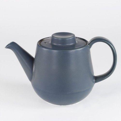 Teekanne Keramik Japan Blau