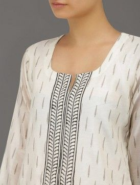 Hand-Block Chanderi Kurta, Indian fashion