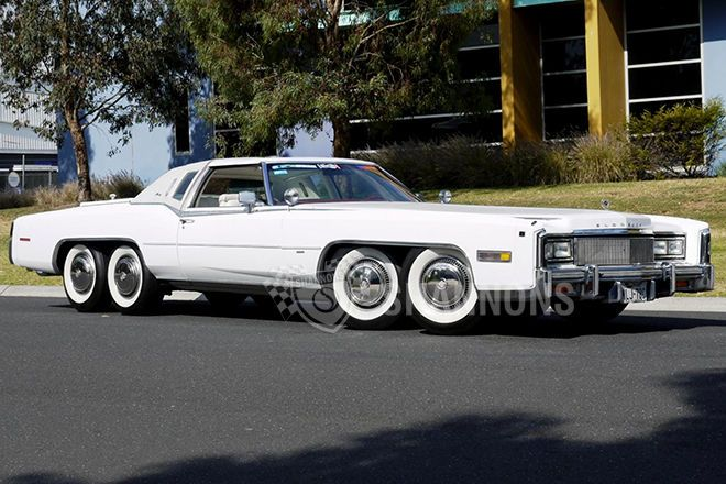 Eight-Wheeled Cadillac Eldorado With Hot Tub, Barbecue Up For Auction