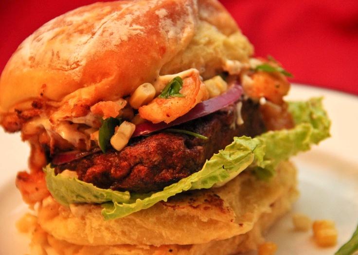 """Low Country Lemon Grill Chorizo Burgers w/ Wild Shrimp & Garlic Potato Bun"" made with Johnsonville Chorizo Patties by Susan S."
