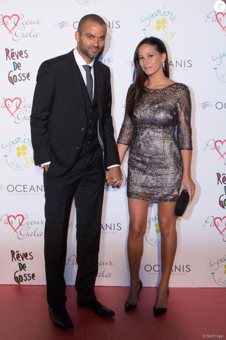 """Tony Parker et sa femme Axelle Francine - 8éme édition du """"Par Coeur Gala"""" à Lyon le 25 septembre 2014. Tous les fonds de cette seront reversés à Make A Wish France et à CéKeDuBonheur."""