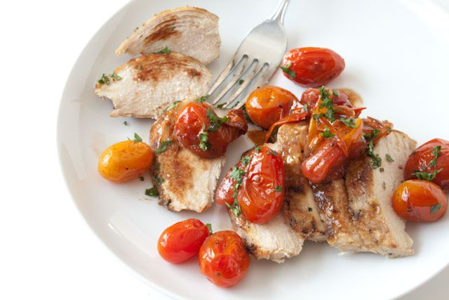 Chicken with Garlic Balsamic Tomatoes | Can You Stay For Dinner?
