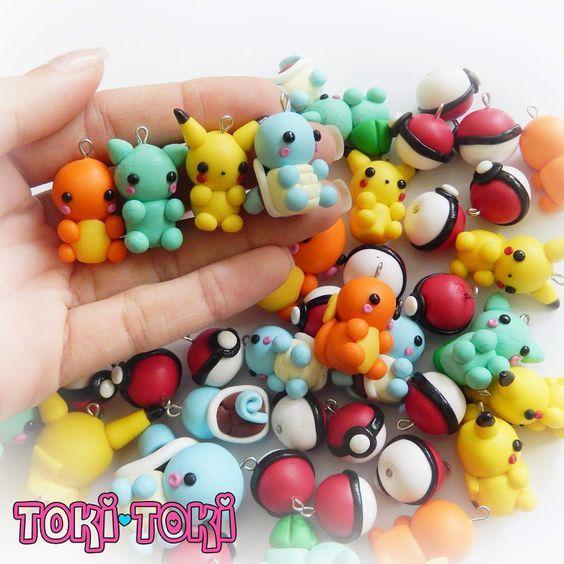 Pokemon polymer clay Charms