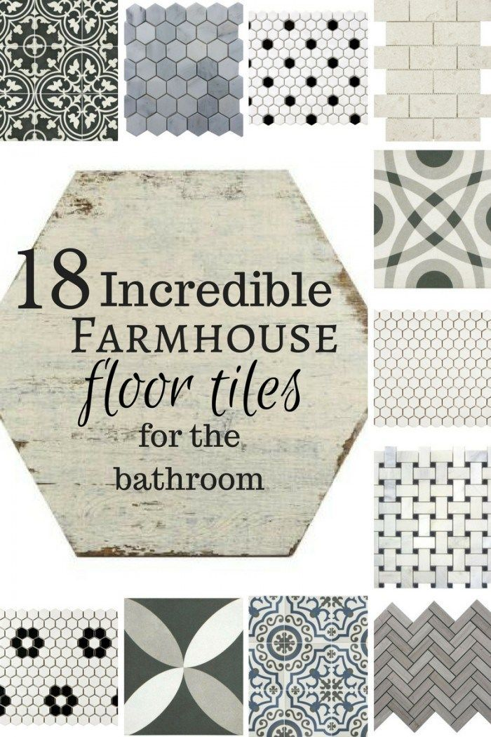 18 Incredible farmhouse floor tiles for the bathroom!  Oh my! If I could have all these in my home I would!