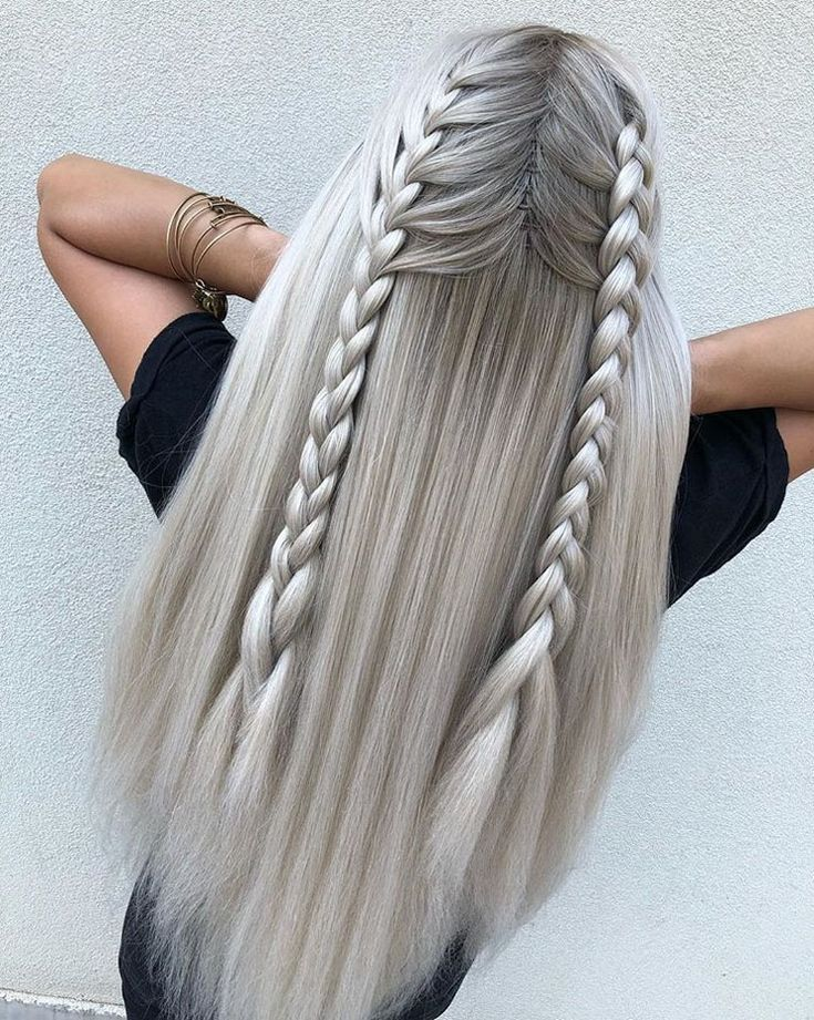 28 Iconic Two Braids Styles For High Volume 2018 -…