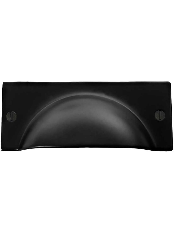 """3 3/4"""" Stamped Steel Bin Pull With Black Lacquer Finish 