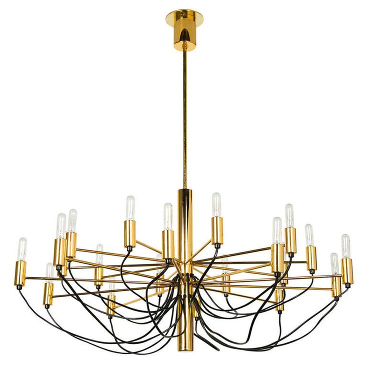 Italian Chandelier Style of Gino Sarfatti | From a unique collection of antique and modern chandeliers and pendants  at http://www.1stdibs.com/furniture/lighting/chandeliers-pendant-lights/