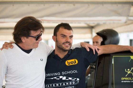 Il record raggiunto a Castelletto di Branduzzo al secondo giro con 2' 15'' «Ai disabili dico: abbiate fiducia in voi stessi e negli altri»