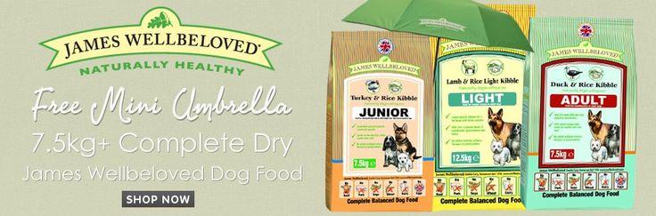 Get a FREE Mini Umbrella with James Wellbeloved Dog Food