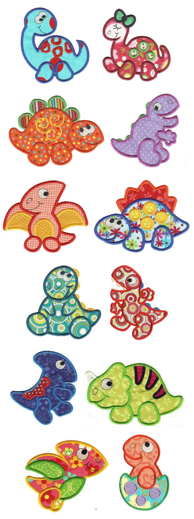 diseños de animalitos  Embroidery | Free Machine Embroidery Designs | Dino Crossing Applique....several free patterns for donloding and also scripture verses...very cool