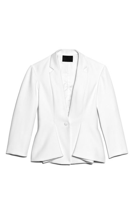 Shop Double Weave Cotton Tailored Jacket With Sewn-In Lapel And Folded Vents by Alexander Wang for Preorder on Moda Operandi