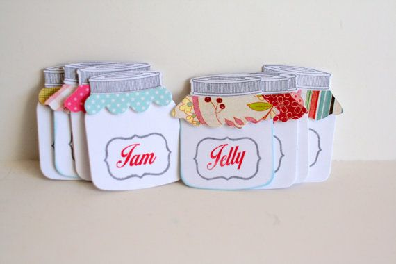 Little mason jar tags Jam jar labels Jelly jar by Justabitofpaper, $4.50
