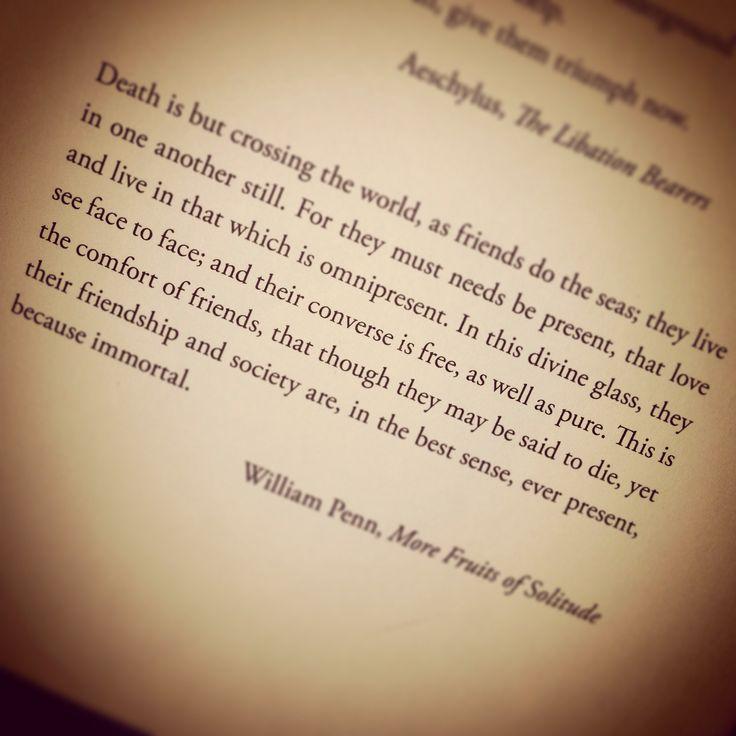 william penn more fruits of solitude