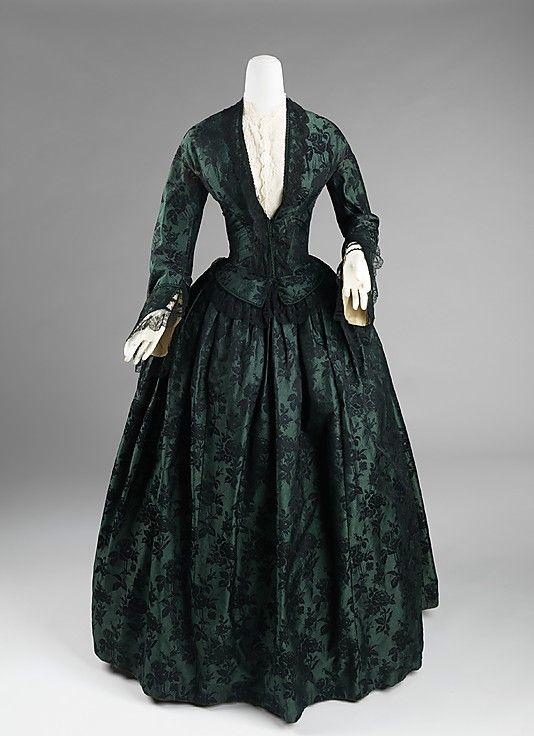 Silk Evening dress 1850-55