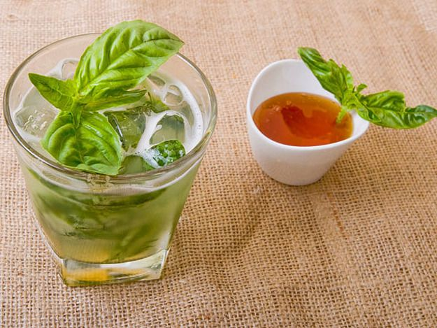 Basil Lemonade: http://www.seriouseats.com/recipes/2012/06/honey-basil ...