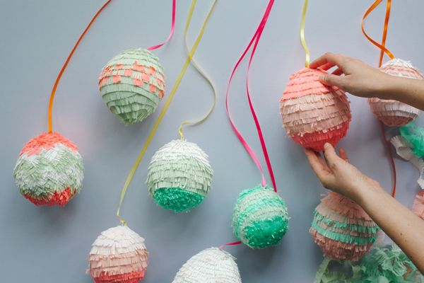 Mini egg pinatas--They did regular candy, but for New Years it'd be awesome with gold crepe paper and confetti on the inside.