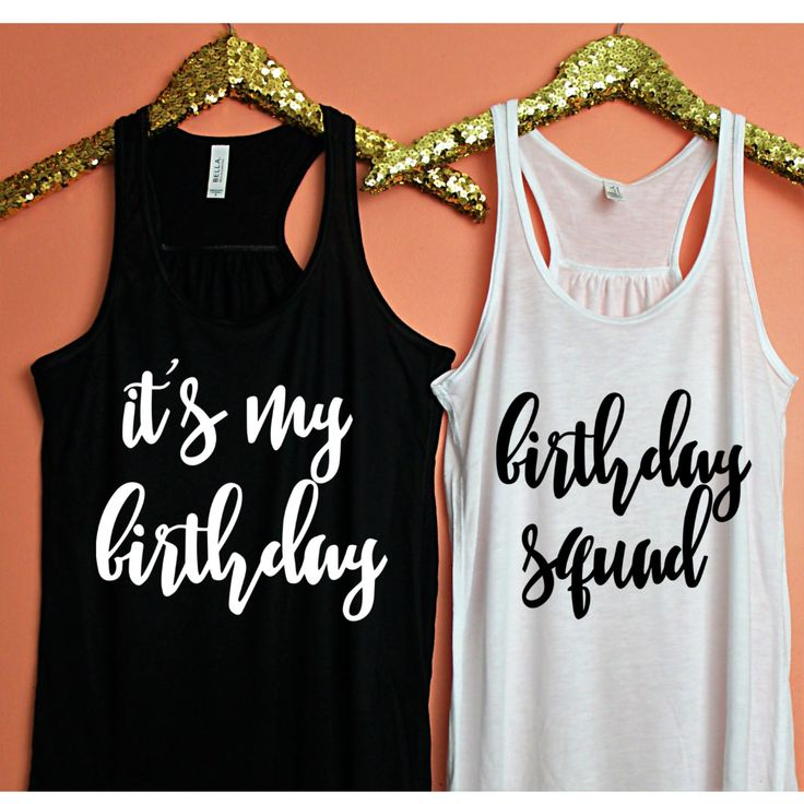Birthday Squad Tank, XS-2XL, birthday tank, 21st birthday, 30th birthday, birthday shirt, 30th birthday shirt, 21st birthday shirt by ShopatBash on Etsy