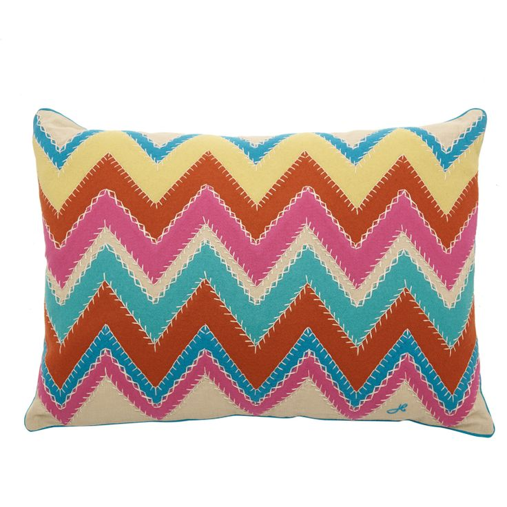 Hand Embroidered Zig Zag Pillow  for £34.99 #fabfind