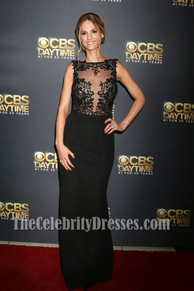 Kelly Kruger Black Bateau Lace Evening Dress 44th Annual Daytime Emmy Awards TCD7234 – The Celebrity Dresses