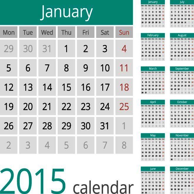 2015 Vector Kalender Desain Unik Jpg Cetak Dan Template Download