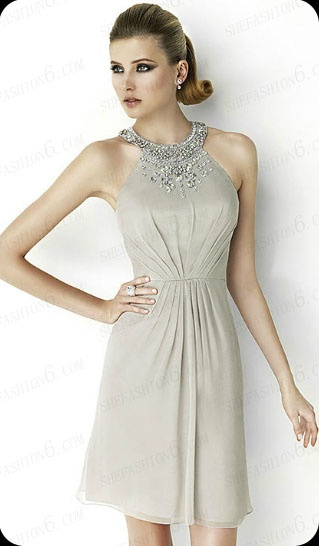 http://www.shefashion6.com  Item 2012SP0019   2012 Sleeveless Knee Length Chiffon Party Dress; Real top fabric, competitive price!!!
