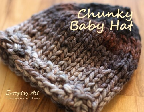 de6311c4dfe ... easy for beginners too shop baby knits chunky and cabled knit hats by  everyday art 44be2 740bc ...