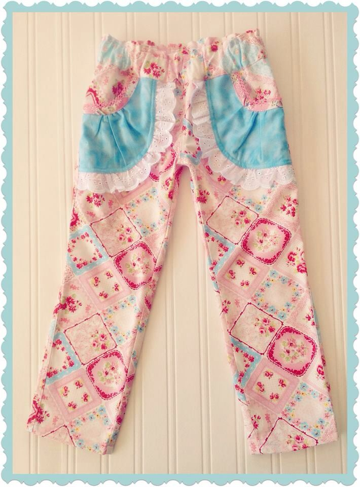 Made using the Sweetheart Cargo Pants pdf pattern