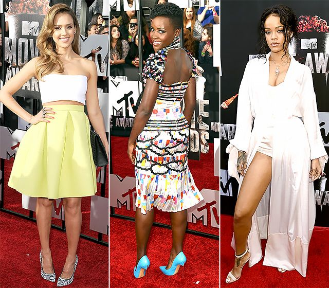 2014 MTV Movie Awards: What the Stars Wore on the Red Carpet #celebrity #celebrityfashion