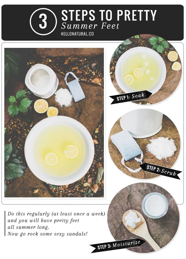 Spring in Your Step! Simple Plan for Naturally Pretty Feet   http://hellonatural.co/pretty-summer-feet/