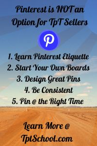 Pinterest is NOT an OPTION for Teachers Pay Teachers Sellers – It's a REQUIREMENT